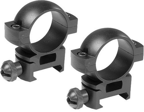 BARSKA 1-Inch High Weaver Style See-through Riflescope Ring
