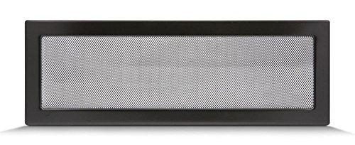 Rejilla de ventilación, rejilla de aire caliente para chimenea, regulable, negro, diferentes tamaños, 17 x 11 cm, 17 x 17 cm, 17 x 30 cm, 17 x 50 cm, con o sin láminas