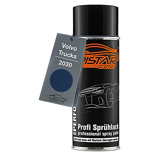 TRISTARcolor Autolack Spraydose für Trucks 2030 Volvo Dunkelblau Basislack Sprühdose 400ml