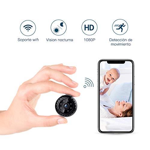FREDI Cámara espía HD 1080P WiFi Cámara Videocámara Oculta Mini Cámara de vigilancia inalámbrica Seguridad para Interiores Visión Nocturna
