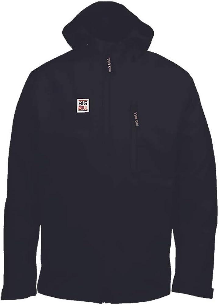 Big Bill Workwear Men's JKT27RS Rainwear Hooded Zip-Up Rain Waterproof Jacket