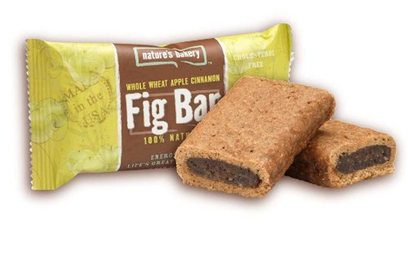 Nature's Bakery Whole Wheat Fig Bar Twin Pack, Apple Cinnamon, 2 Ounce (Pack of 12)