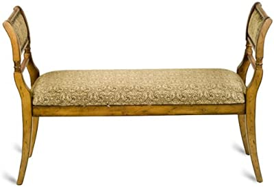 Amazon.com: Gz - Taburete acolchado con patas de madera ...