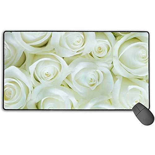 Große Mausunterlage, Floral Rose Flower Design Erweiterte Gaming-Mausunterlage Matte Schreibtischunterlage Rutschfestes Gummi-Mousepad 40x75 cm