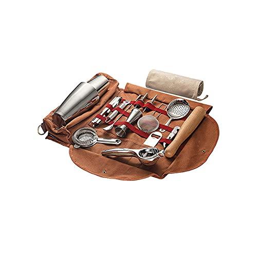 SXGKYY Bartender Bag Travel Bartender Kit Bag, Estuche portátil para Bar, Estuche para Viaje, Kit de Bar, Viaje Determinado