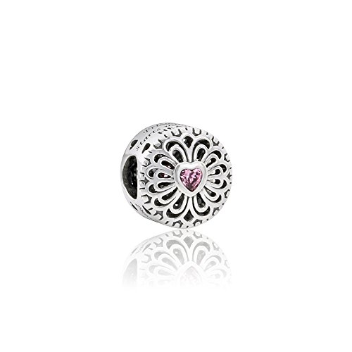 Pandora Sterling Silver Love & Friendship Charm 791955PCZ