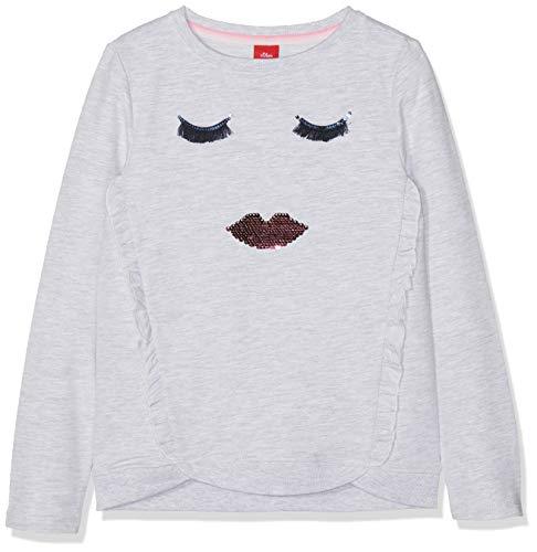 s.Oliver Mädchen 53.902.41.4098 Sweatshirt, Elfenbein (White Melange 0105), 104 (Herstellergröße: 104/110/REG)