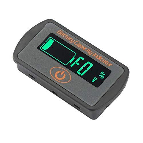 Batteriespannungs Kapazitätsüberwachungs Messgerät mit hintergrundbeleuchtetem LCD Bildschirm 12-60V Batteriestatusanzeige für Mobile und tragbare Geräte