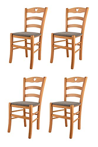 t m c s Tommychairs - Set 4 sillas Cuore para Cocina...