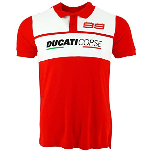 Pritelli 1816003/M Herren Polo-Hemd, Ducati Racing Jorge Lorenzo 99, Größe M