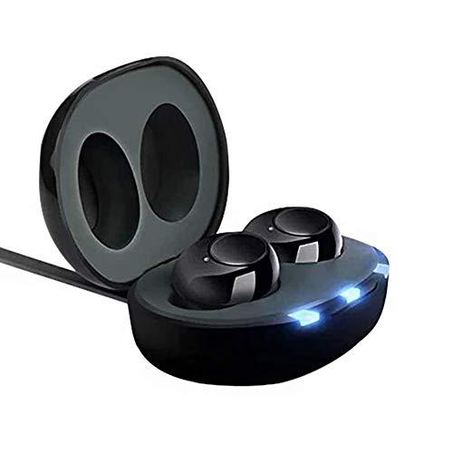MXXQQ Ausilio per Amplificatori Acustici, Mini Amplificatore Audio Digitale Invisibile Ricaricabile con Batteria Che Dura Tutto Il Giorno, con Custodia con Cancellazione del Rumore Digitale