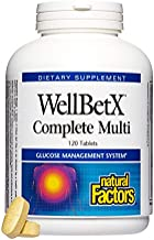 WellBetX by Natural Factors, Complete Multi, Supports Healthy Blood Sugar Levels Already in a Normal Range, 120 capsules (60 servings)