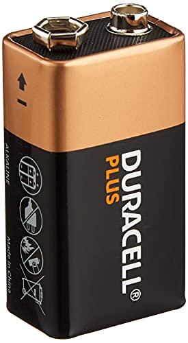 Duracell 9 V Plus Power Alkaline Type Battery (Pack of 2)