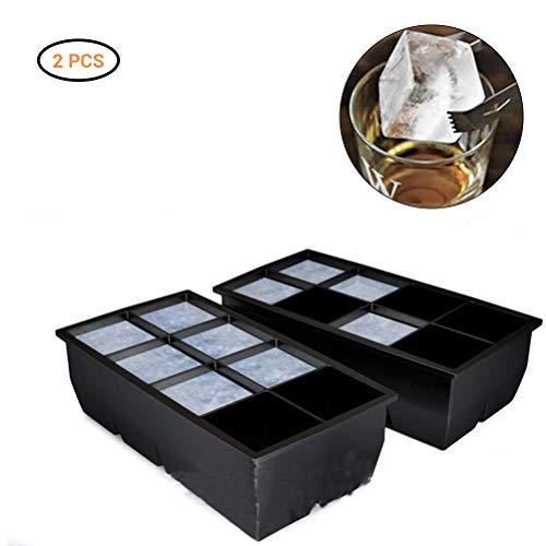 Neborn Grote ijsblokjesvorm 8 grote Cube Jumbo grote siliconen ijsblokjesvorm ijsblokjesmaker keuken accessoires