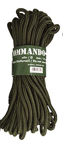 Corde commando 15 m olive, OLIV, 15 m x 7 mm