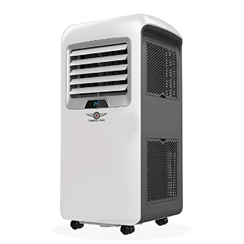 Legacy Axis Cooling and Heating Portable Air Conditioner - 12000 BTU Air Conditioner Unit with Remote Control - Mobile Heater and Cooler Fan, Energy Class A