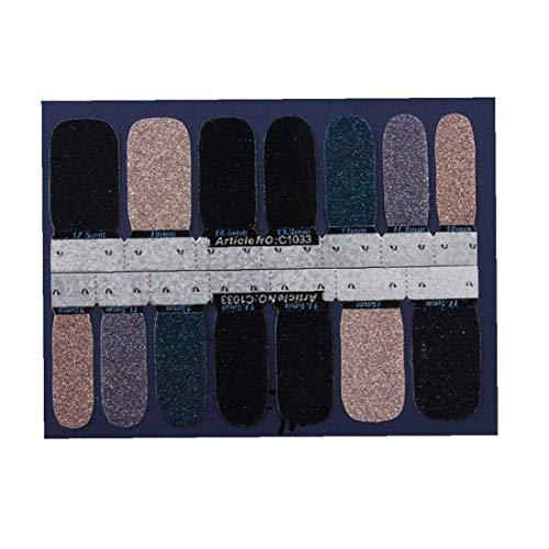 Nail Art Stickers transfert Glitter Gradient Color Shine pleine Wraps bandes polonais manucure auto-adhésifs autocollants à ongles style 33