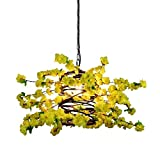 MJK Novelty Chandeliers,Wrought Iron Creative Decoration E27 Chandelier, Cafe Clothing Store Chandelier Living Room, Cherry Blossom Chandelier Creative Flower Bar Light Nordic, Household Chandeliers