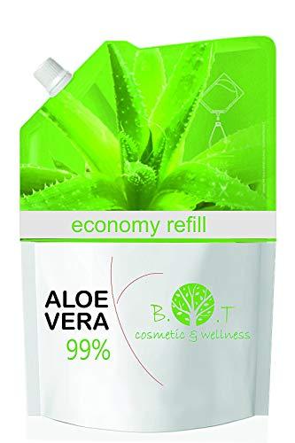 99% natürliches Aloe Vera Gel 500 ml Nachfüllung