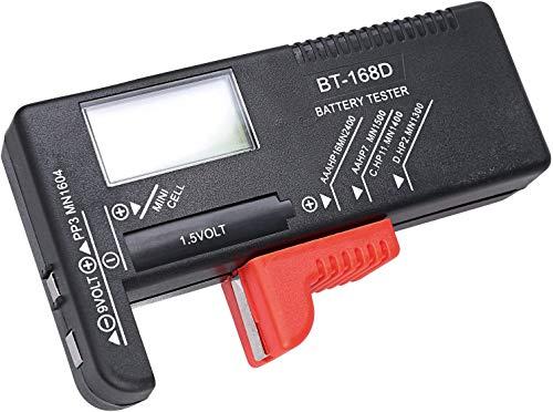 Hapurs バッテリーテスター LCD液晶画面 デジタル 乾電池やボタン電池の残量チェック 電池残量計 電池計測...