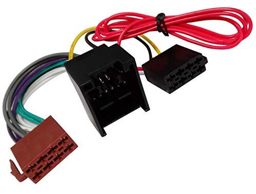 Aerzetix adapterkabel ISO voor autoradio. Maakt de aansluiting van een standaard ontvanger mogelijk op plaats van het originele geluidssysteem C43426