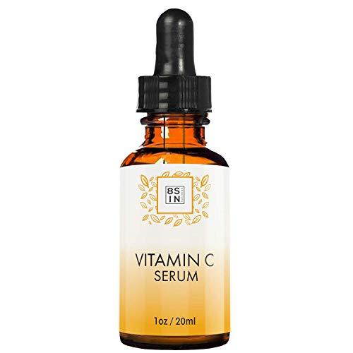 8 Sin Beauty - Vitamin C Serum - Gesichtsserum, Anti Aging & Anti Falten, Hyaluronsäure + Vitamin E - Feuchtigkeitsserum, 20ml