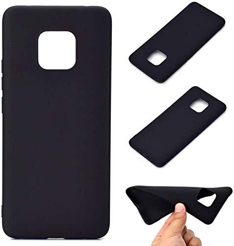 CoverKingz Handyhülle für Huawei Mate 20 Pro - Silikon Handy Hülle Mate 20 Pro - Soft Hülle in matt schwarz