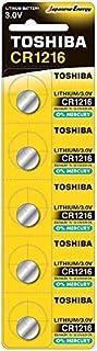 بطاريات ليثيوم 3 فولت من توشيبا CR1216 PW BP-5 - 5 قطع