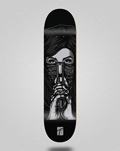 TXIN Monopatín Skate Skateboard Deck Tabla Tijuana (7.875)