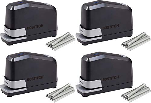 Bostitch Impulse 45 Sheet Electric Stapler Value Pack - Double Heavy Duty, No-Jam with Trusted Warranty Guaranteed by Bostitch, Black (B8E-Value) - 4 Pack