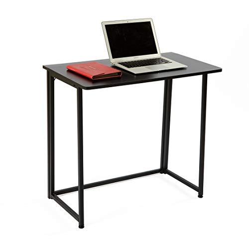 JH Escritorio Plegable para Computadora Escritorio de Computadora Mesa de Ordenador 80 X 45 X 74 CM Color Negro