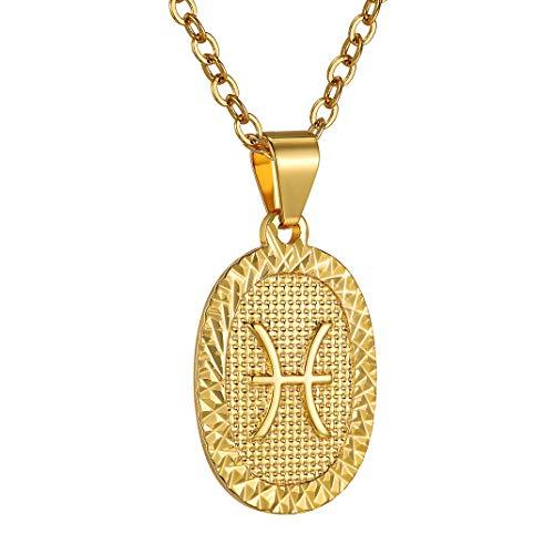 Medalla dorada de Piscis