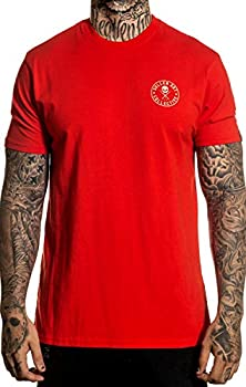 Sullen Clothing Ever Red Short Sleeve Premium Vintage Graphic Tattoo T-shirt for Men