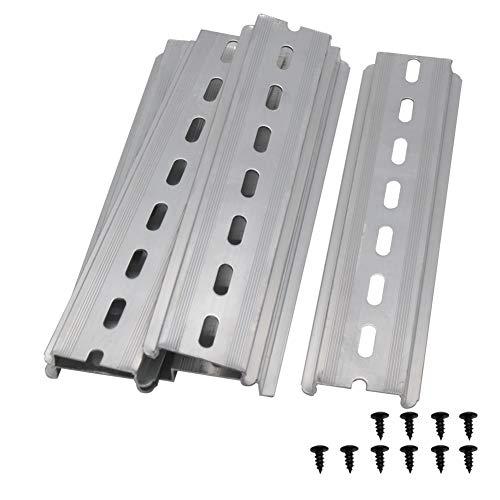 Taiss/5 Stücke DIN-Schiene Schlitz Aluminium RoHS,für Verteilerschrank Schaltschrank einbau, 35mm breit, 7,5mm hoch, lang 150mm/6