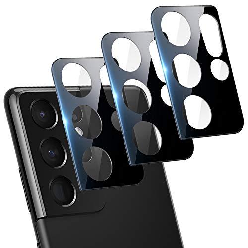LORDSON 3-Pezzi Pellicola Fotocamera compatibile con Samsung Galaxy S21 Ultra 5G Vetro Temperato Protezione Lente Pellicola, [Bubble Free] [HD Clear] Pellicola Protettiva con Galaxy S21 Ultra 6.8 Inch