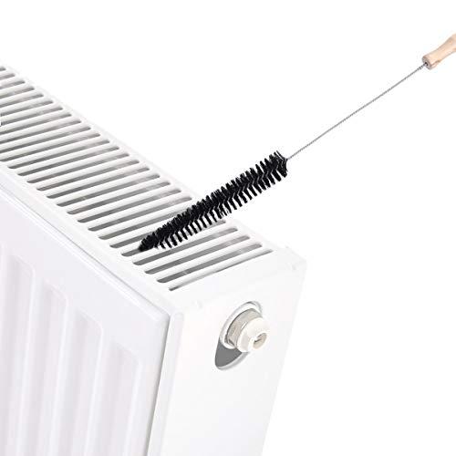 Brosse pour radiateur,AIEVE manche long et brosse pour radiateur flexible pour le nettoyage du radiateur, noir