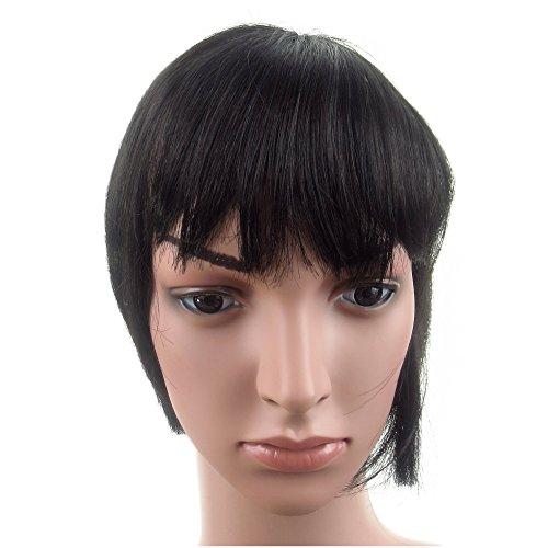 417 VANESSA GREY Toutes les couleurs disponibles, Pince Cheveux Super Frange Vraiment Naturelle Marron Foncé