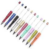 Haudang - Bolígrafos (10 unidades, plástico), diseño de perlas