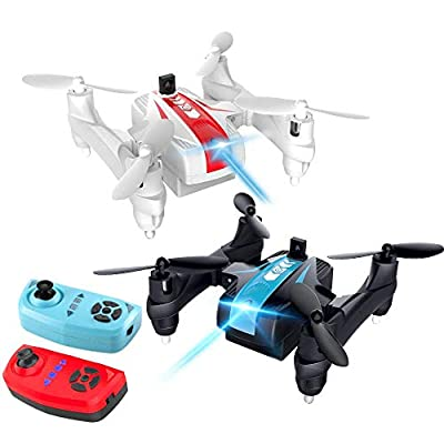 OCDAY Drone for Kids, Mini Battle Drone 2.4G 4CH 6-Axis RC Quadcopter with Headless Mode, Altitude Hold, 3D Flips and LED Lights, Perfect for Playing with Friend or Family (battle drone)