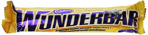 Wunderbar 24 Bars Cadbury Creamy Peanut Butter Light Rice Crisps and Chewy Caramel All Smothered in a Rich Creamy Milk Chocolate From Canada