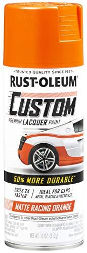 Rust-Oleum 340564 Automotive Spray Paint, 11 oz, Matte Racing Orange