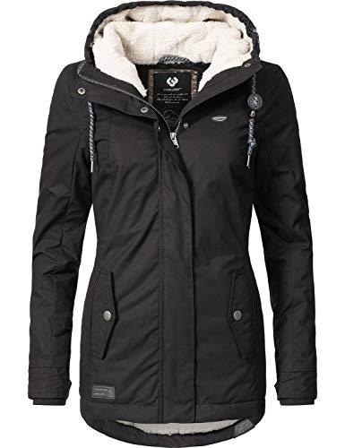 Ragwear Damen Winterparka Winterjacke Monade Black018 Gr. XS