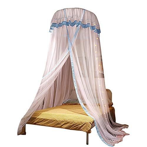 Mosquitero para Camas Universal White Dome Malla de Mosquitera Red InstalacióN FáCil Cama Colgante Canopy Netting para Camas Individuales a Camas Extragrandes Hamacas Cunas,