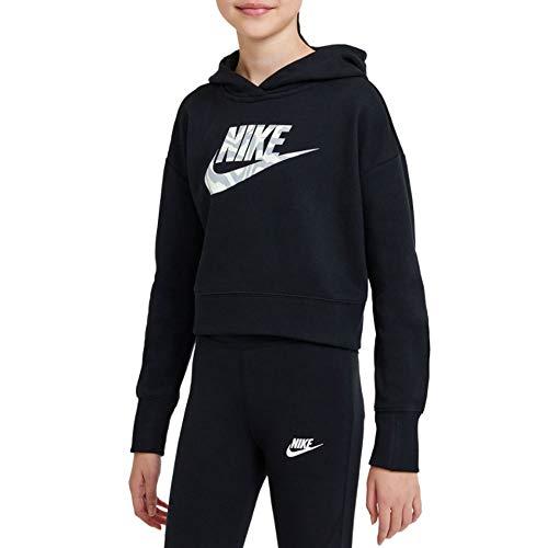 Nike DC9763-010 G NSW Crop Hoodie Fill Felpa Bambina Black M
