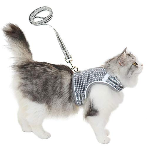 pangdi Escape Proof Cat Harness and Leash for Walking-M