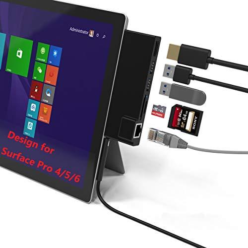Bawanfa Surface Pro 4/5/6 Concentrador USB de con Puerto Ethernet 1000M +...