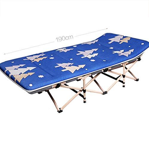Plegable para acampar Cama Cama plegable camping Oficina almuerzo 150kg rotura reclinable Tumbona Holiday Garden Beach Patio Salón al aire libre de descanso de la gravedad cero soporte de la silla