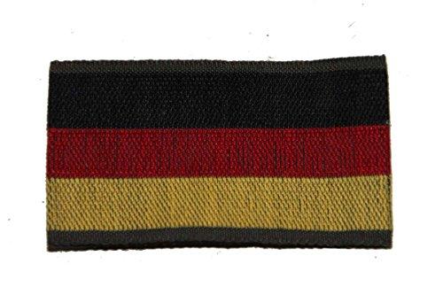 Erich Fritzsch KG Abzeichen Deutschland-Fahne 29 x 54 mm Gewebter Aufnäher BRD Länderkennung