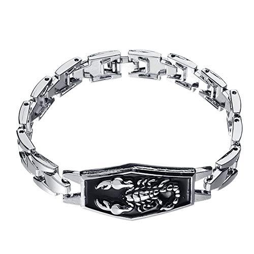 Saniswink Armband für Damen, Herren, Skorpion, geschnitzt, Charm-Armband, Armreif, Motorrad, Schmuck 1 silber