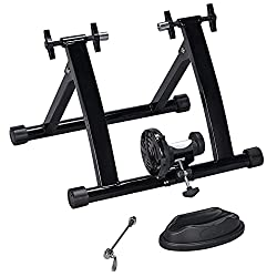 top rated Yaheetech Premium Steel Bike Indoor Exercise Bike Exercise Bike Fixed Training Stand 2021